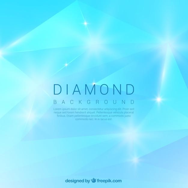 Strahlend blauer diamant hintergrund Kostenlosen Vektoren