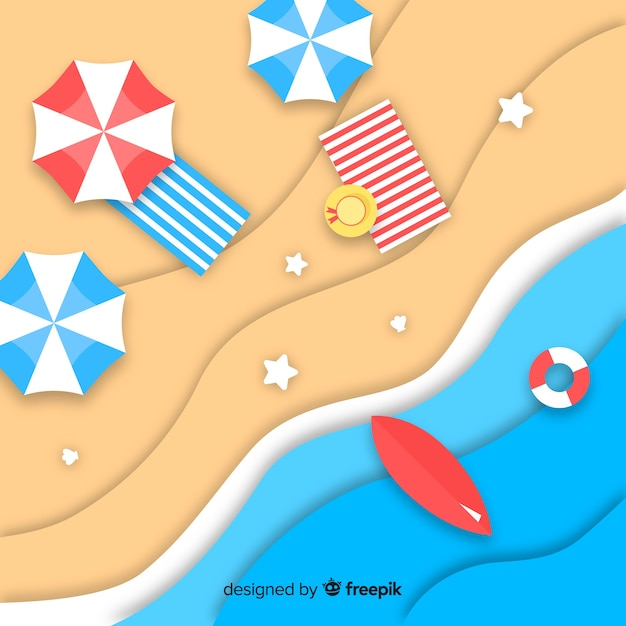 Strand hintergrund Kostenlosen Vektoren