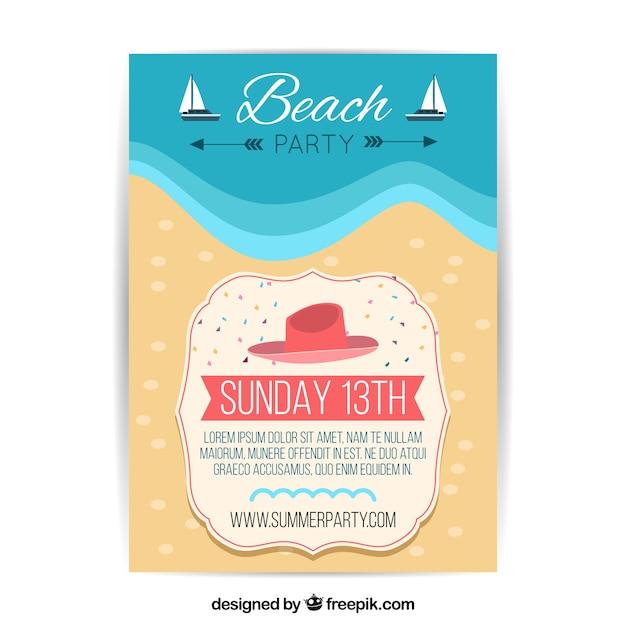 Strand-Party-Flyer-Schablone | Download der kostenlosen Vektor