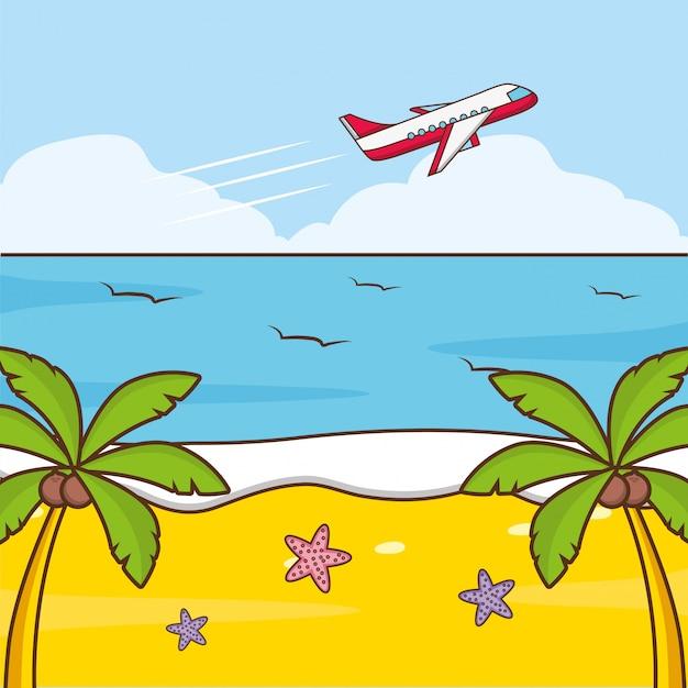 Strandurlaub Kostenlosen Vektoren