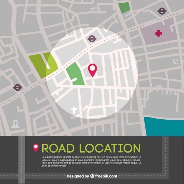 Straße lageplan grafik Kostenlosen Vektoren