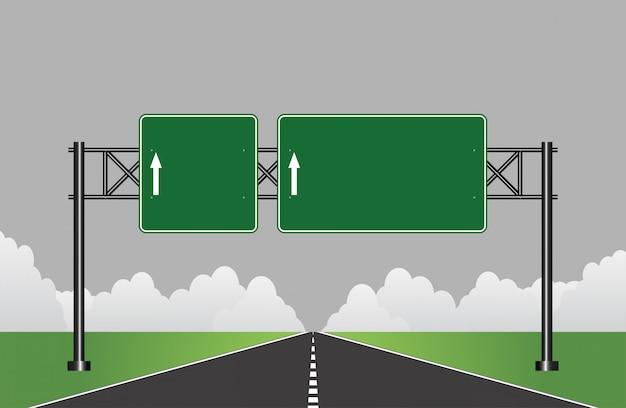 Straßenautobahnzeichen Premium Vektoren