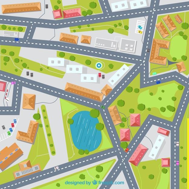 Straßenkarte abbildung hintergrund Premium Vektoren