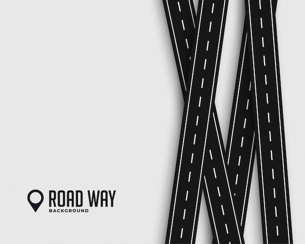 Straßenreise und reisehintergrund Kostenlosen Vektoren
