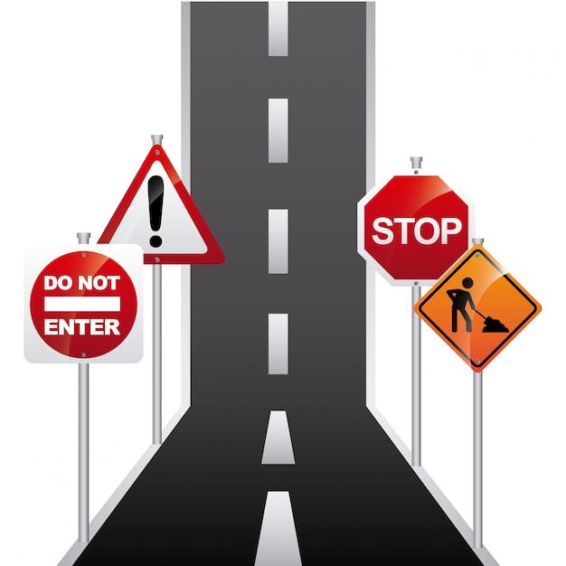 Straßensignaldesign Premium Vektoren