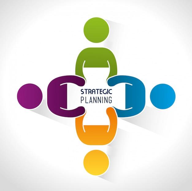 Strategisches planungsdesign. Premium Vektoren