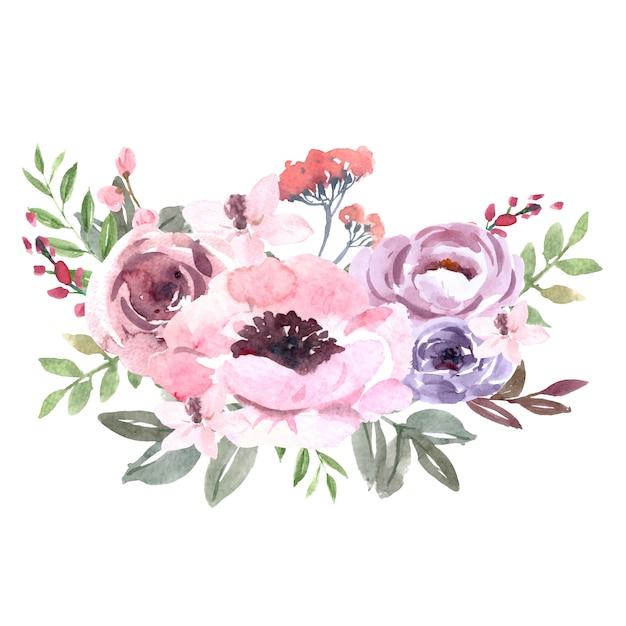 Strauß für die dekoration von unikaten, exotische strichblumen Kostenlosen Vektoren