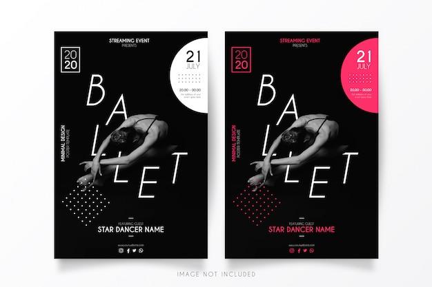 Streaming ballet event poster vorlage Kostenlosen Vektoren