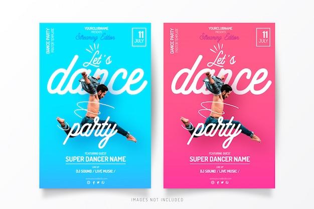 Streaming dance party vorlage Kostenlosen Vektoren