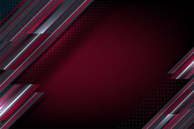 Streifen punktieren roten hintergrund Premium Vektoren