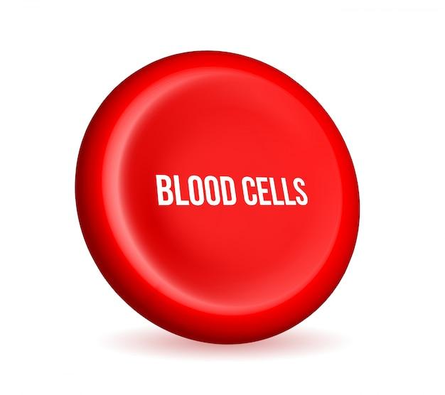 Strom der roten blutkörperchen, medizinischer erythrozyten. Premium Vektoren