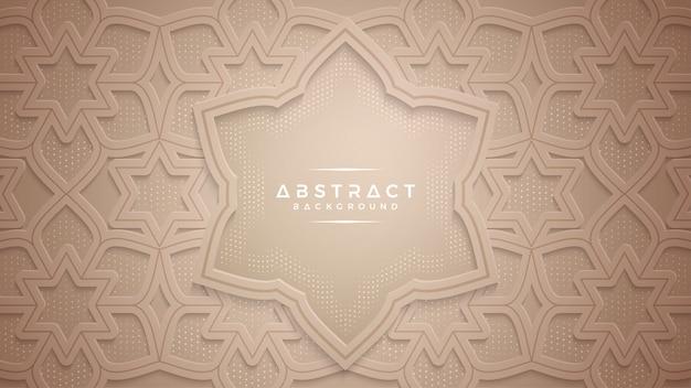 Strukturierter hintergrund des abstrakten gold papercut. Premium Vektoren