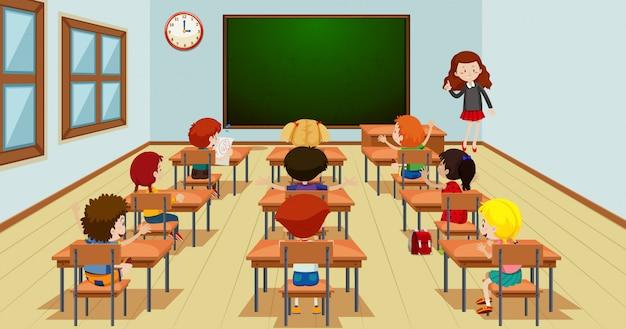 Student in der unterrichtsvorlage Kostenlosen Vektoren