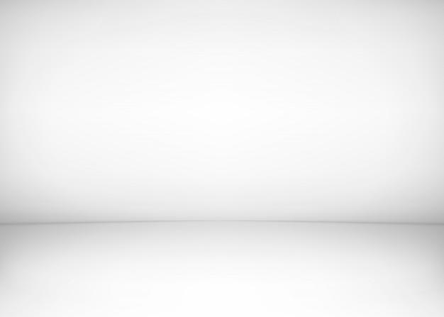 Studio zimmer interieur. weißer wand- und bodenhintergrund. saubere werkstatt für fotografie oder präsentation. illustration Premium Vektoren