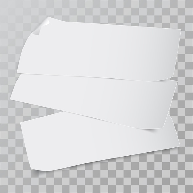 Stück papier. Premium Vektoren
