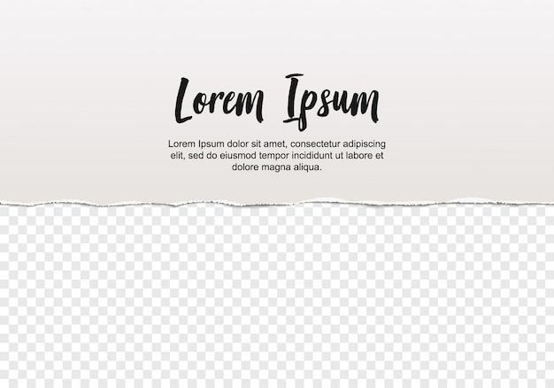 Stück zerrissenes papier Premium Vektoren
