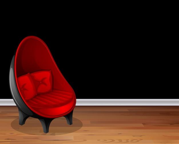 Stuhl im salon Kostenlosen Vektoren