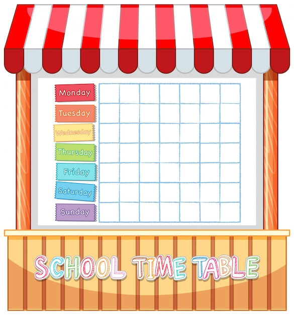 Stundenplan vorlage Kostenlosen Vektoren