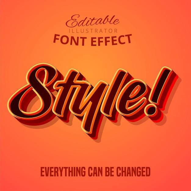 Style-text, bearbeitbarer font-effekt Premium Vektoren