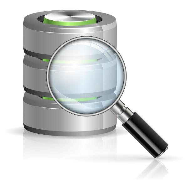 Suche im datenbankkonzept Premium Vektoren