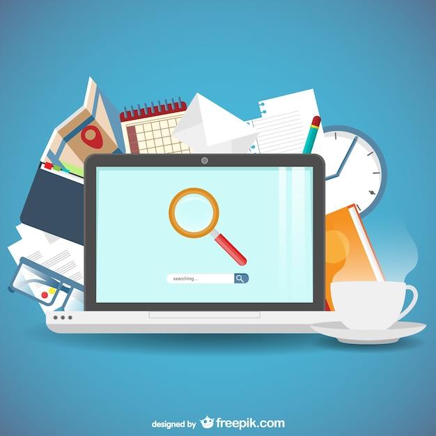 Suchmaschinen-Konzept Kostenlose Vektoren