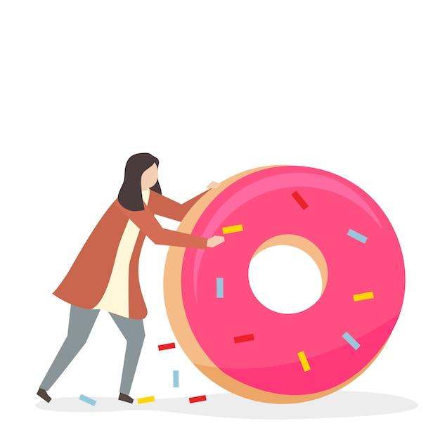 Süchtig nach süßigkeiten und zucker Kostenlosen Vektoren
