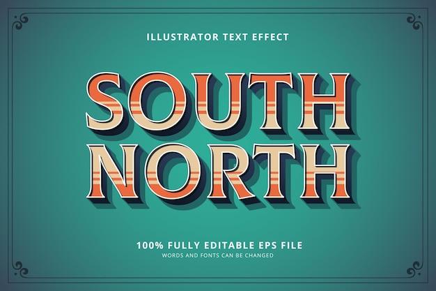 Süd-nord-texteffekt Kostenlosen Vektoren