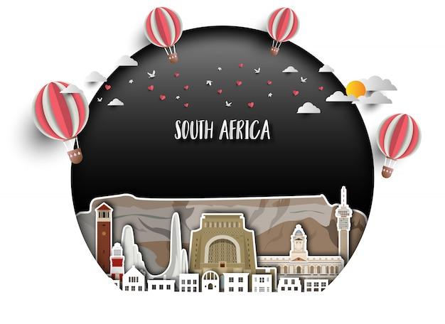 Südafrika hintergrund Premium Vektoren