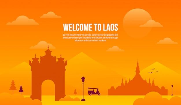 Südostasien tourismusattraktion. Premium Vektoren