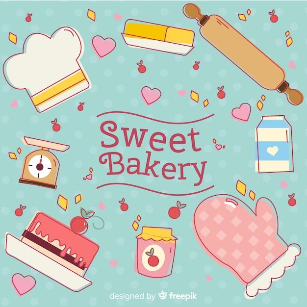 Süße bäckerei Kostenlosen Vektoren
