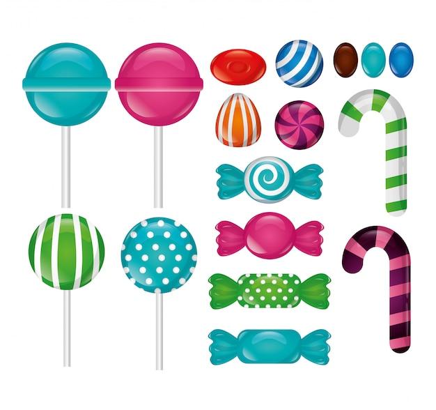 Süße bonbons packen Kostenlosen Vektoren
