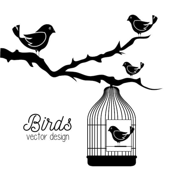 Süße ornamentale vogelikone Premium Vektoren