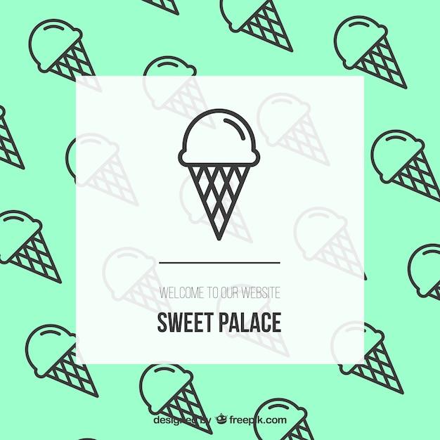Süße palast website Kostenlosen Vektoren