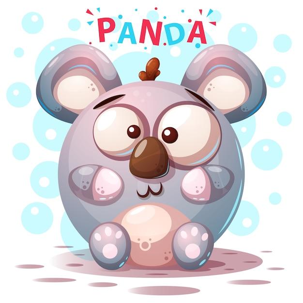 Süße panda-figuren Premium Vektoren