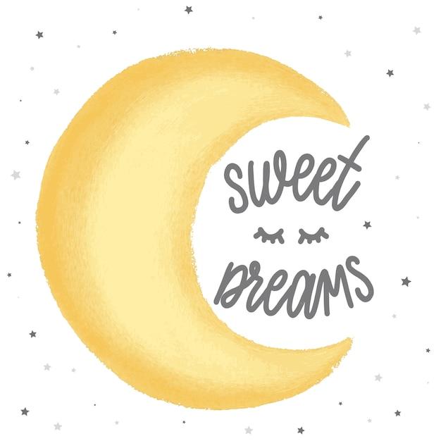 Süße träume Premium Vektoren