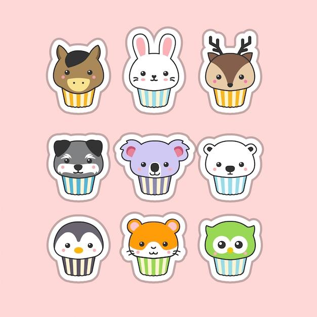 Süßer cupcake Premium Vektoren