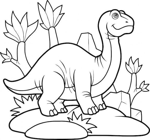 Süßer dinosaurier Premium Vektoren