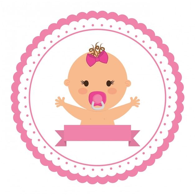 Süßes baby-symbol Premium Vektoren