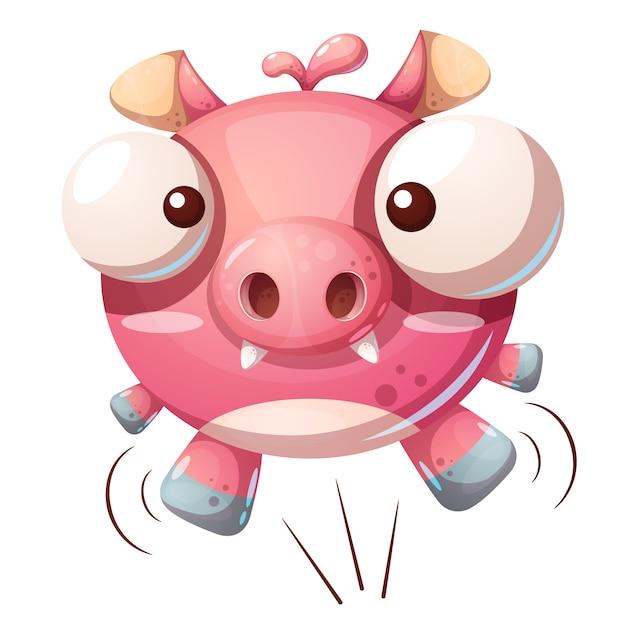 Süßes schwein Premium Vektoren