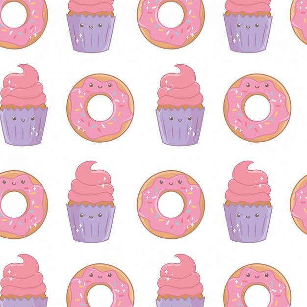 Süßes und leckeres essen Premium Vektoren