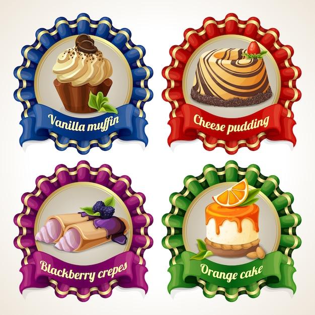 Süßigkeiten band banner Premium Vektoren