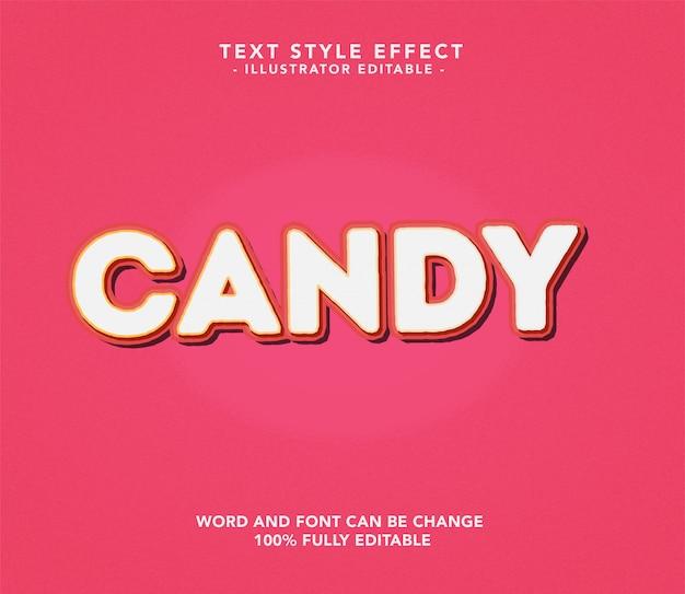 Süßigkeiten schriftart Premium Vektoren