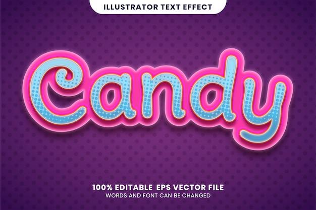 Süßigkeitstexteffekt Premium Vektoren