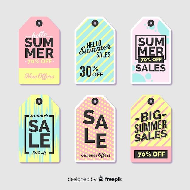 Summer sale label kollektion Kostenlosen Vektoren