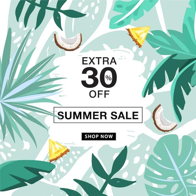 Summer sale promotion banner vorlage Premium Vektoren
