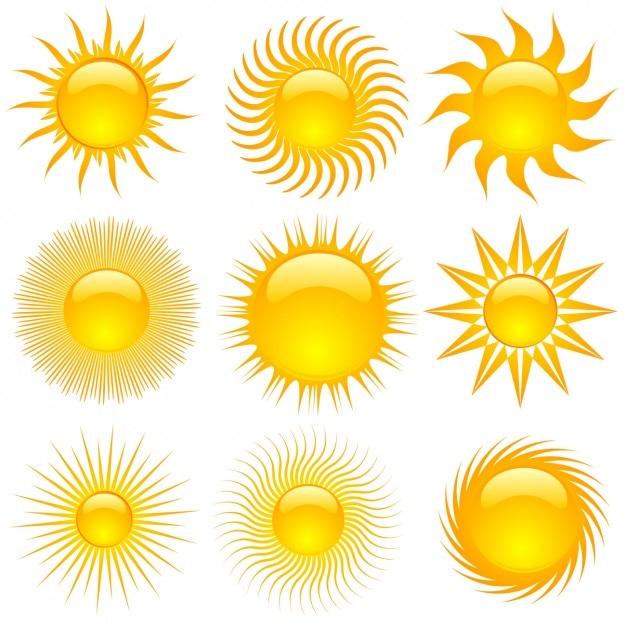 Summer sun kollektion Kostenlosen Vektoren
