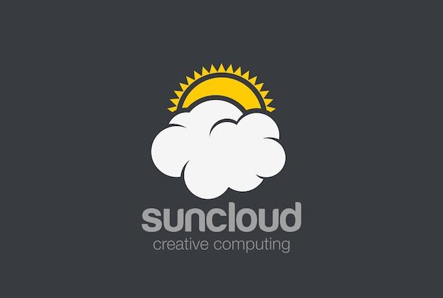 Sun cloud logo. Kostenlosen Vektoren