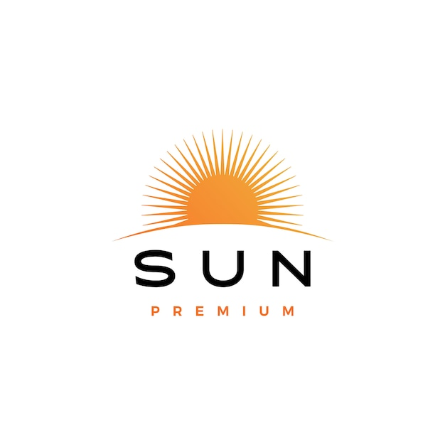 Sun logo icon illustration Premium Vektoren