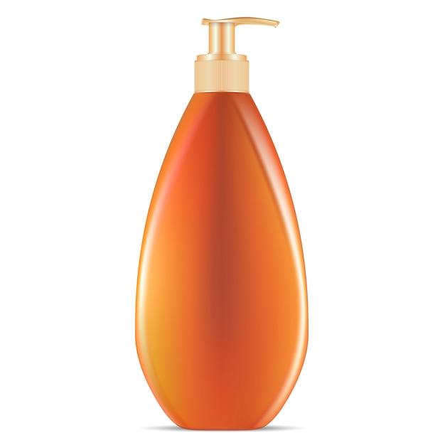 Sunblock cosmetic pump dispenser bottle Premium Vektoren