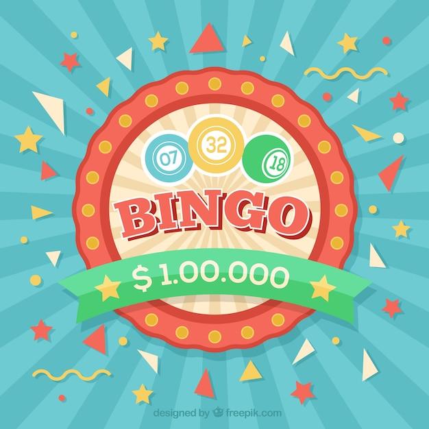 Sunburst bingo hintergrund Kostenlosen Vektoren